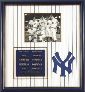ROGER MARIS - AUTOGRAPHED SIGNED PHOTOGRAPH CO-SIGNED BY: MICKEY MANTLE