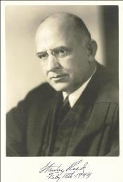 ASSOCIATE JUSTICE STANLEY F. REED - AUTOGRAPHED SIGNED PHOTOGRAPH 02/18/1944