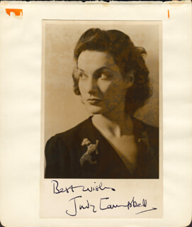 JUDY CAMPBELL - AUTOGRAPHED SIGNED PHOTOGRAPH