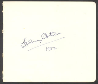 SIR THOMAS HENRY COTTON - AUTOGRAPH 1952