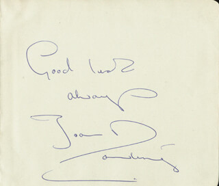JOAN DOWLING - AUTOGRAPH SENTIMENT SIGNED