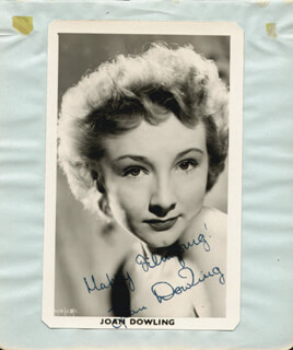 JOAN DOWLING - PRINTED PHOTOGRAPH SIGNED IN INK