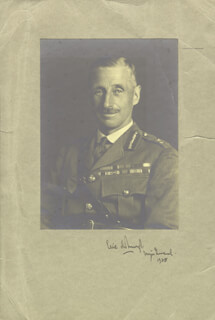 Autographs: GENERAL ERIC DEBURGH - PHOTOGRAPH MOUNT SIGNED 1938