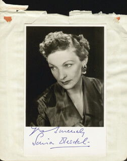 SONIA DRESDEL - AUTOGRAPHED SIGNED PHOTOGRAPH