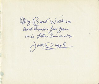 JACK DOYLE - AUTOGRAPH SENTIMENT SIGNED