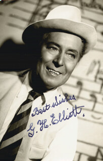 G. H. (GEORGE HENRY) ELLIOTT - AUTOGRAPHED SIGNED PHOTOGRAPH