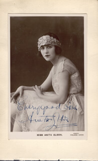 ANITA ELSON - AUTOGRAPHED SIGNED PHOTOGRAPH 02/13/1918 CO-SIGNED BY: MONA WEE MONA VIVIAN