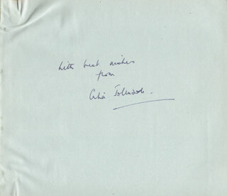 CELIA JOHNSON - AUTOGRAPH SENTIMENT SIGNED