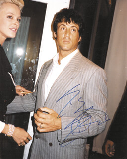 SYLVESTER STALLONE - AUTOGRAPHED SIGNED PHOTOGRAPH