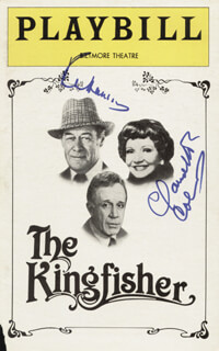 THE KINGFISHER BROADWAY CAST - SHOW BILL SIGNED CO-SIGNED BY: CLAUDETTE COLBERT, REX HARRISON