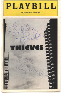 THIEVES BROADWAY CAST - SHOW BILL SIGNED CO-SIGNED BY: SHEILA MacRAE, KAY MEDFORD