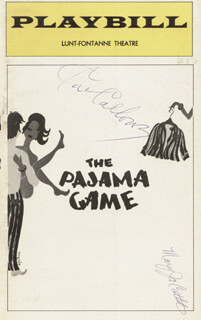 THE PAJAMA GAME THEATER CAST - SHOW BILL SIGNED CO-SIGNED BY: MARY JO CATLETT, CAB CALLOWAY