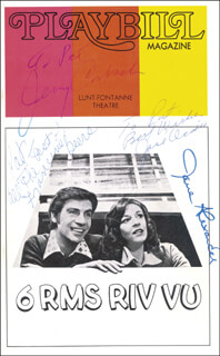 Autographs: 6 RMS RIV VU BROADWAY CAST - SHOW BILL SIGNED CO-SIGNED BY: FRANCINE BEERS, JOSE OCADIA, JERRY ORBACH, JANE ALEXANDER