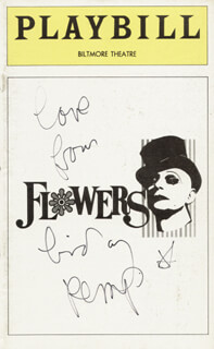 LINDSAY KEMP - SHOW BILL COVER SIGNED