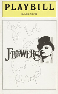 LINDSAY KEMP - INSCRIBED SHOW BILL COVER SIGNED