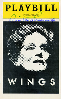 CONSTANCE CUMMINGS - SHOW BILL COVER SIGNED