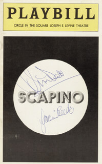 SCAPINO PLAY CAST - SHOW BILL COVER SIGNED CO-SIGNED BY: JIM DALE, GAVIN REED