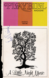 Autographs: HAROLD HAL PRINCE - SHOW BILL SIGNED