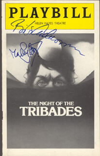 THE NIGHT OF THE TRIBADES PLAY CAST - SHOW BILL COVER SIGNED CO-SIGNED BY: MAX VON SYDOW, BIBI ANDERSSON