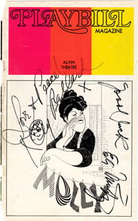 MOLLY BROADWAY CAST - SHOW BILL COVER SIGNED CO-SIGNED BY: KAYE BALLARD, ELI MINTZ