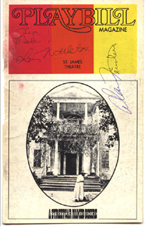 STREETCAR NAMED DESIRE PLAY CAST - INSCRIBED SHOW BILL COVER SIGNED CO-SIGNED BY: ALAN FEINSTEIN, LOIS NETTLETON