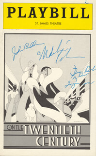 ON THE TWENTIETH CENTURY BROADWAY CAST - INSCRIBED SHOW BILL SIGNED CO-SIGNED BY: JOHN CULLUM, IMOGENE COCA, MADELINE KAHN