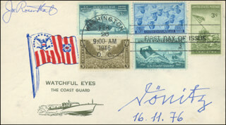 GRAND ADMIRAL KARL DONITZ - FIRST DAY COVER SIGNED 11/16/1976 CO-SIGNED BY: JOE ROSENTHAL