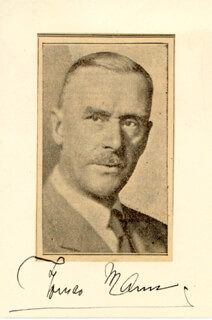 THOMAS MANN - NEWSPAPER PHOTOGRAPH SIGNED