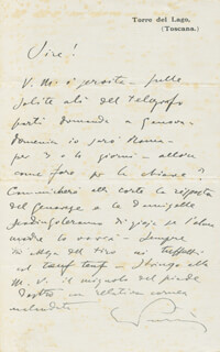 GIACOMO PUCCINI - AUTOGRAPH LETTER SIGNED