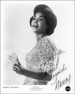 NANCY WILSON - AUTOGRAPHED INSCRIBED PHOTOGRAPH
