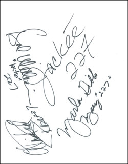 227 TV CAST - AUTOGRAPH CO-SIGNED BY: HAL WILLIAMS, MARLA GIBBS, ALAINA REED HALL, JACKEE HARRY