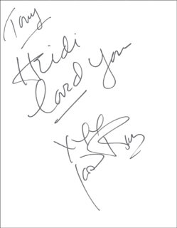 JOAN RIVERS - AUTOGRAPH NOTE SIGNED