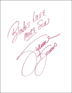 SUZANNE SOMERS - AUTOGRAPH SENTIMENT SIGNED