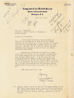 PRESIDENT LYNDON B. JOHNSON - TYPED LETTER SIGNED 04/22/1943