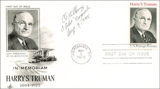 BOCKSCAR CREW (CHARLES DONALD ALBURY) - FIRST DAY COVER SIGNED