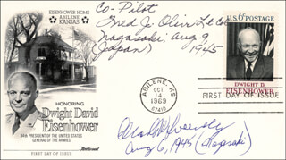 BOCKSCAR CREW (MAJOR GENERAL CHARLES W. SWEENEY) - FIRST DAY COVER SIGNED CO-SIGNED BY: BOCK'S CAR CREW (FRED OLIVI)