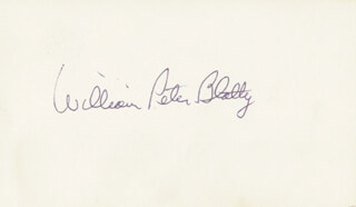 WILLIAM PETER BLATTY - AUTOGRAPH