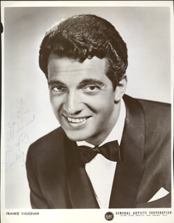 FRANKIE VAUGHAN - AUTOGRAPHED INSCRIBED PHOTOGRAPH