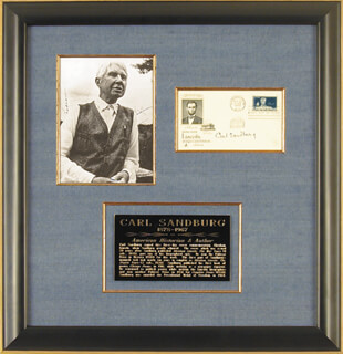 CARL SANDBURG - FIRST DAY COVER SIGNED