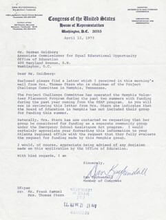 DAN KUYKENDALL - TYPED LETTER SIGNED 04/12/1973