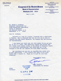 TENO RONCALIO - TYPED LETTER SIGNED 06/09/1975
