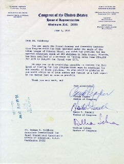 CLAUDE D. PEPPER - TYPED LETTER SIGNED 06/05/1974 CO-SIGNED BY: WILLIAM LEHMAN, DANTE B. FASCELL