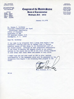 WILLIAM FLYNT BILL NICHOLS - TYPED LETTER SIGNED 01/22/1975