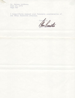 ALAN CRANSTON - TYPED LETTER SIGNED 06/13/1973