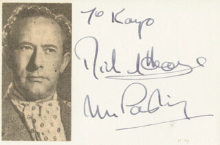 RICHARD HEARNE - INSCRIBED SIGNATURE