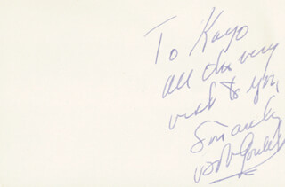 ROBERT GOULET - AUTOGRAPH NOTE SIGNED