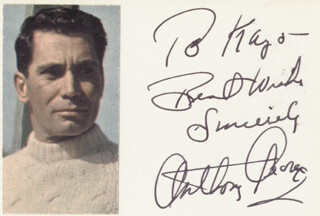 ANTHONY GEORGE - AUTOGRAPH NOTE SIGNED