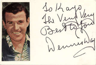DENNIS DAY - INSCRIBED SIGNATURE