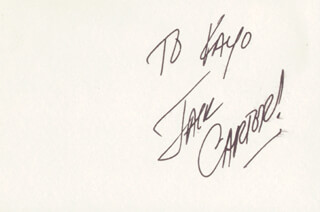 JACK CARTER - INSCRIBED SIGNATURE