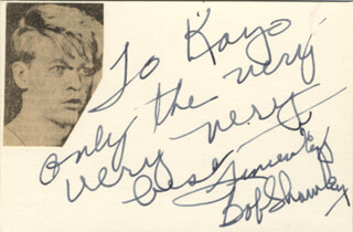 ROBERT SHAWLEY - AUTOGRAPH NOTE SIGNED